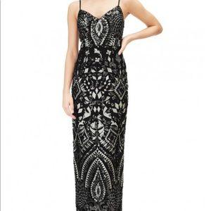 Aidan Mattox Embroidered Sequin Dress